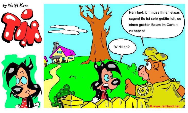 Comic Strip Igel Tim und Baum Seite 1